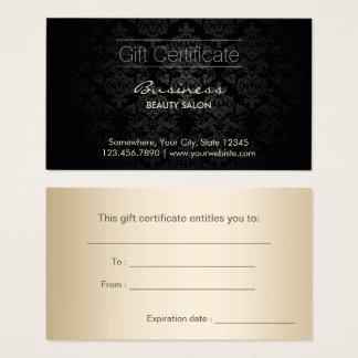 De elegante Donkere Certificaten van de Gift van Visitekaartjes