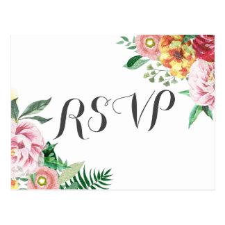 De elegante Douche RSVP van het Huwelijk van het Briefkaart