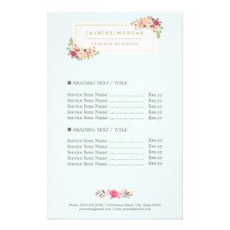 De elegante Elegante BloemenPrijs van de Waterverf Folder