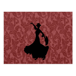 De elegante elegante girly danser van het briefkaart