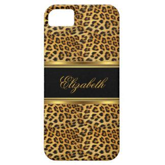 de Elegante Elegante Gouden Luipaard van iPhone Barely There iPhone 5 Hoesje