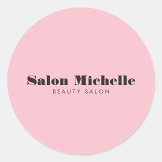 De elegante en Minimalistische Roze Salon van de Ronde Sticker