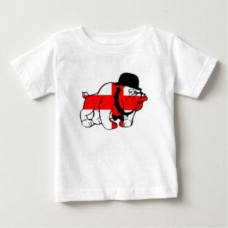 De elegante Engelse Engelse vlag van de Buldog Baby T Shirts