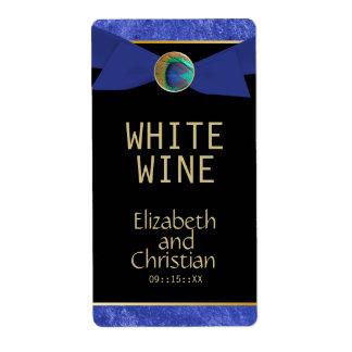 De elegante Etiketten van de Wijn van het Huwelijk