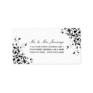 De elegante Etiketten van het Huwelijk van Addressticker