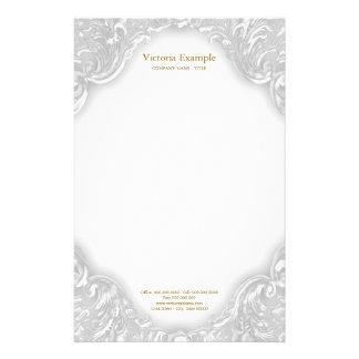 De elegante Fancy Werveling van het Witgoud Briefpapier