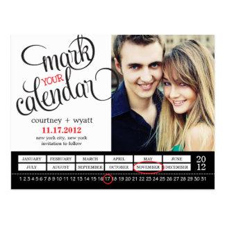 De elegante Foto van de Kalender bewaart het Briefkaart