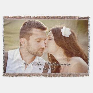 De elegante Foto van het Huwelijk van de Douane Deken