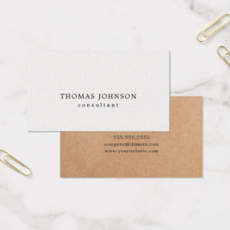 De elegante GEDRUKTE Witte Adviseur van de Textuur Visitekaartjes