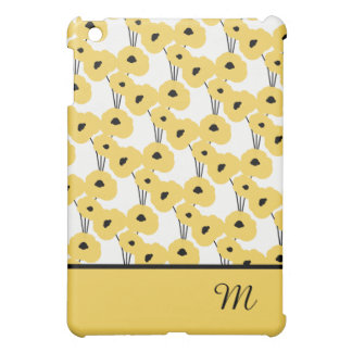 DE ELEGANTE GELE & ZWARTE PAPAVERS VAN MOD. iPad MINI CASES