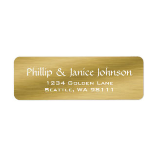 De elegante Gepersonaliseerde Geborstelde Gouden Etiket