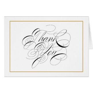 De elegante Gouden Grens van het Manuscript dankt Briefkaarten 0