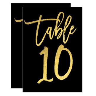 De elegante Gouden Lijst Nummer 10 van het Kaart