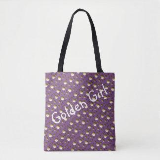 De elegante Gouden Lila zak van het Stip voor Draagtas
