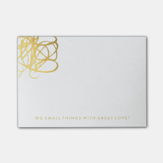 De elegante Gouden Nota's van de Post-it van het Post-it® Notes