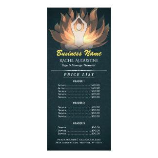 De elegante Gouden Prijslijst van de Meditatie van 10,2x 22,9 Cm Reclamekaart