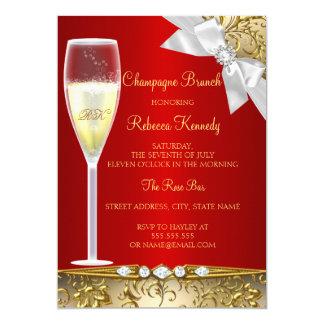 De elegante Gouden Rode Witte Uitnodiging van de