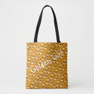 De elegante Gouden zak van het Stip voor strand of Draagtas