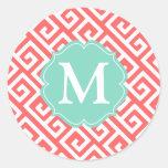 De elegante Griekse Gepersonaliseerde Sleutel van  Stickers