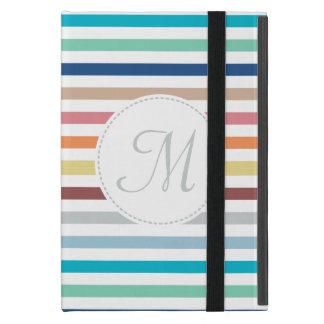 De elegante Horizontale Strepen van de Regenboog iPad Mini Hoesje