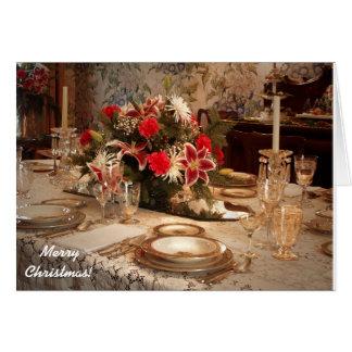 De elegante Kaart van het Diner van Kerstmis