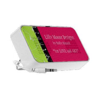 De elegante Leuke Zoete Roze Groene Sprekers van d Reis Speaker