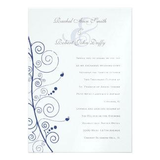 De elegante Marineblauwe Uitnodiging van de Wervel