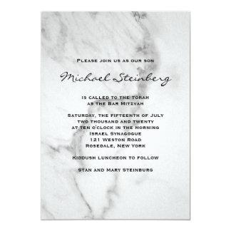 De elegante Marmeren Uitnodiging van de Bar mitswa