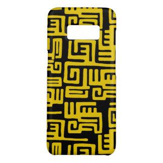 De elegante Minimale Afrikaanse Stammen Gele Lijn Case-Mate Samsung Galaxy S8 Hoesje