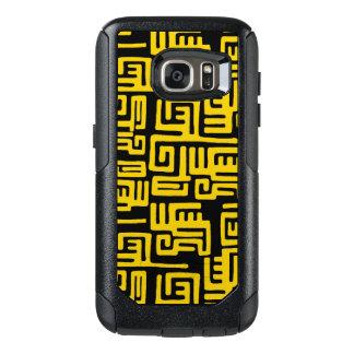 De elegante Minimale Afrikaanse Stammen Gele Lijn OtterBox Samsung Galaxy S7 Hoesje