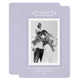 De elegante Minimale Foto van Kerstmis van de Kaart