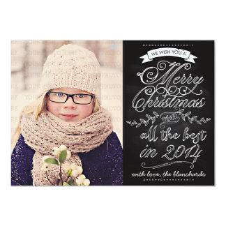 De elegante Moderne Kaart van de Foto van Kerstmis