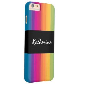 De elegante moderne kleurrijke regenboog van de barely there iPhone 6 plus hoesje