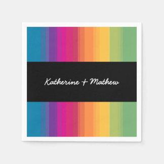 De elegante moderne kleurrijke regenboog van de papieren servet