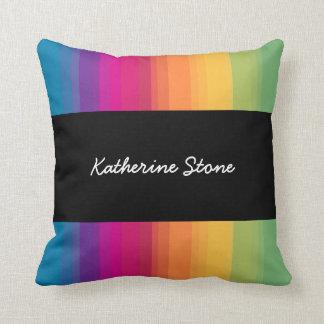 De elegante moderne kleurrijke regenboog van de sierkussen