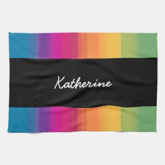 De elegante moderne kleurrijke regenboog van de theedoek