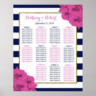 De elegante Moderne Roze Rozen van het Collectie Poster
