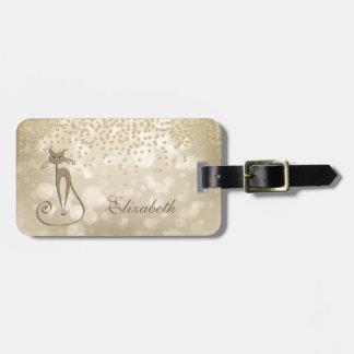 De elegante Modieuze confetty-Diamant van de Folie Bagagelabel