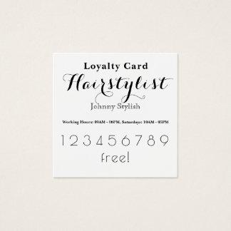 De elegante modieuze kaart van de loyaliteitsklant vierkante visitekaartjes