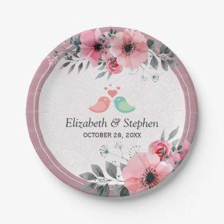 De elegante Mooie Douche van het Huwelijk van de Papieren Bordje