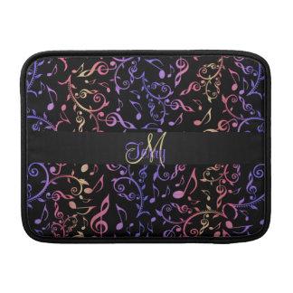 De elegante Muziek van het Monogram neemt nota van MacBook Air Sleeve
