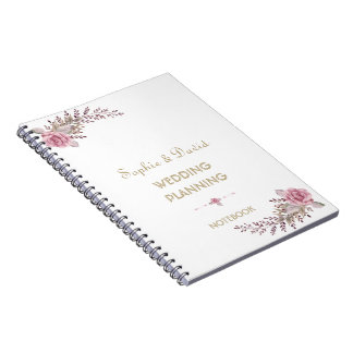 De elegante Ontwerper van het Huwelijk van de Ringband Notitieboek