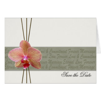 De elegante Orchidee bewaart de Datum - douaneorde Kaart