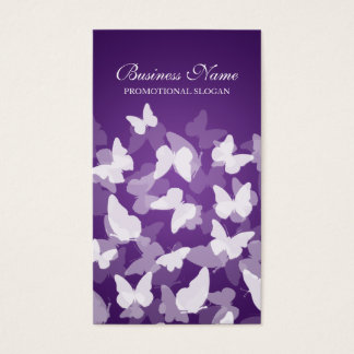 De elegante Paarse Beroeps van Vlinders Visitekaartjes