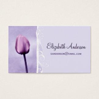 De elegante Paarse Bloemen Elegante Tulp van de Visitekaartjes