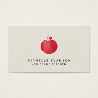De elegante Professionele Instructeur Rood Apple Visitekaartjes
