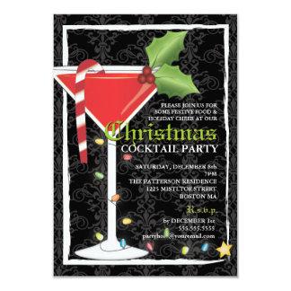 De elegante Rode Cocktail party van Kerstmis van Kaart
