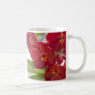 De elegante Rode Foto van Orchideeën Koffiemok