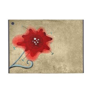 De elegante Rode Papaver van Swirly van het Blad iPad Mini Hoesje