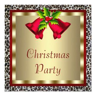 De elegante Rode Partij van Kerstmis van de Kaart